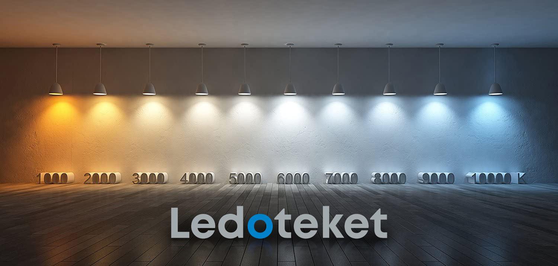 Färgtempratur LED belysning